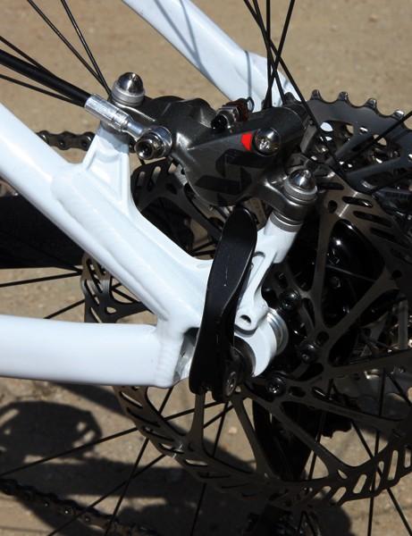 BMC's 29er hardtail prototype features post mount rear brake tabs