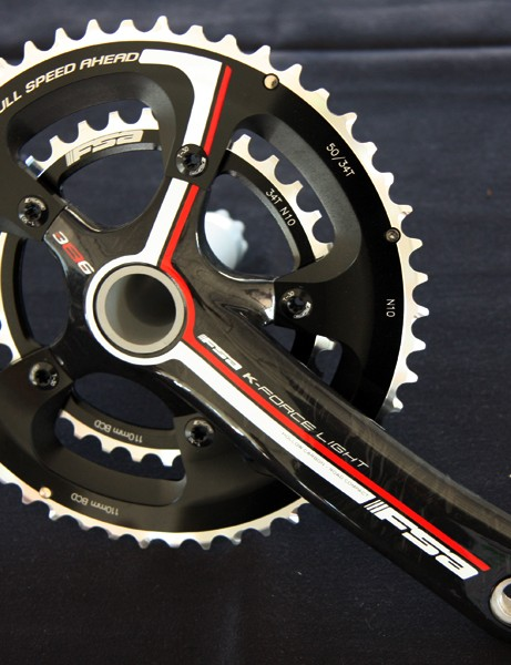 FSA will offer both K-Force and SL-K level road cranks in the new 386 Evo standard for now and unlike current BB30 models, both of these will also fit in conventional 68mm English threaded shells, too.