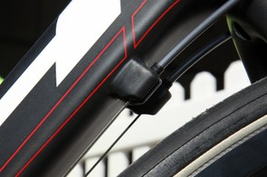 Slotted housing stops are offset far enough from the tube that there's still room for plug-in barrel adjusters.