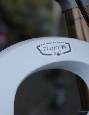 Fox's new Float Ti model features a new titanium crown steerer that dramatically saves weight