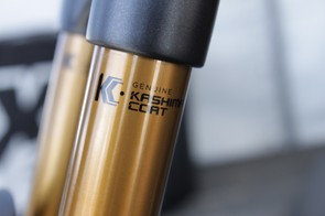 Kashima now graces all of Fox's top models and will be available as original equipment on 2012 bicycles; this year the coating was only available on the aftermarket