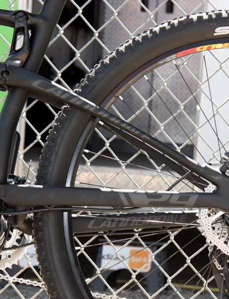 Unlike the 26in Scalpel, the Scalpel 29 uses a bona fide single-pivot suspension design