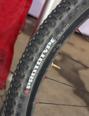 Specialized factory rider Ned Overend used a new 1.8in-wide version of the company's fast-rolling Renegade tire at the Sea Otter Classic