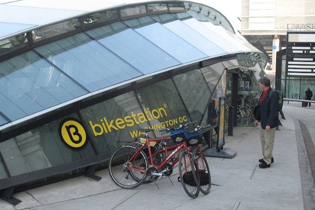 bikestation offers Washington DC commuters bike parking, lockers and changing facilities adjacent to downtown's Union Station