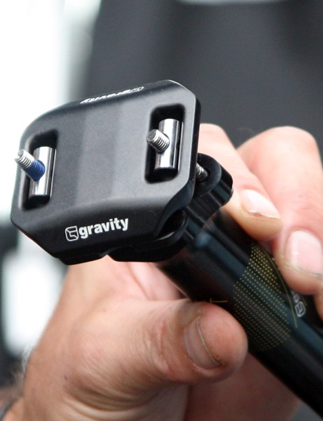 The new Gravity Light seatpost head uses a