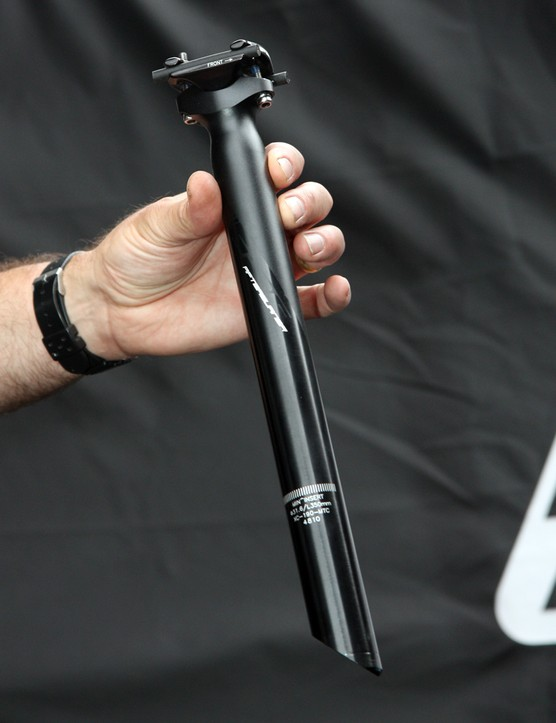 FSA give their Afterburner seatpost an updated graphics treatment to give it more of a