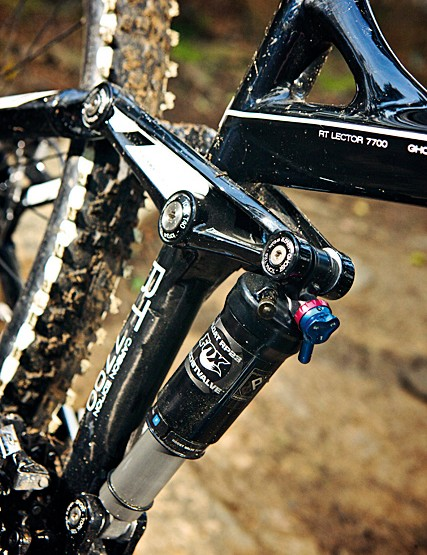 Fox's RP23 shock uses a firm compression tune to keep things efficient