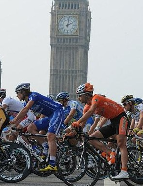 Big Ben looms over the final Tour of Britain stage
