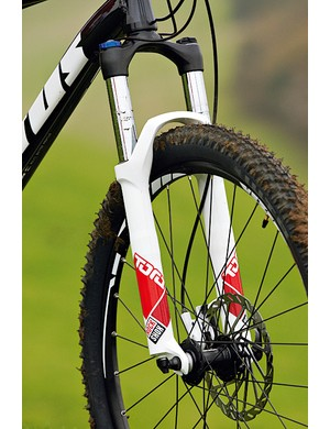 A decent 120mm (4.7in) travel fork is a bonus on a hard riding bike like this