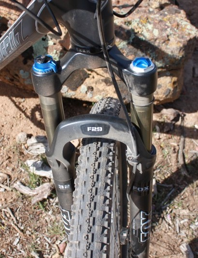 Fox's Float 29 RLC fork performed well and we appreciated its 100mm of travel