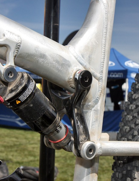 Rocky Mountain still refer to this bike as a prototype but the hydroformed tubing and carbon fiber upper link suggest it's closer to a pre-production machine since all of the major tooling is clearly already completed