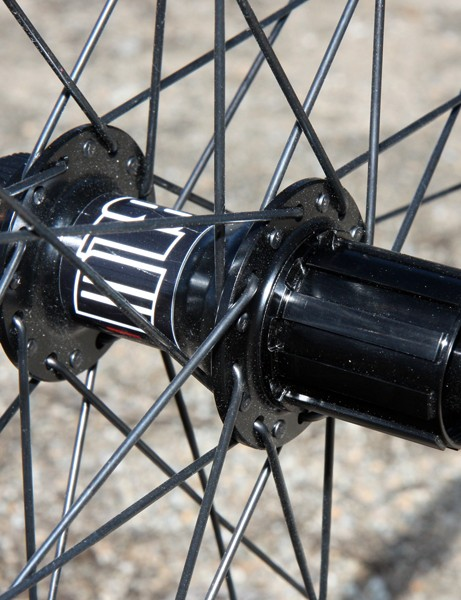 The new 29in M1800 wheelset uses DT Swiss's proven star ratchet hub design