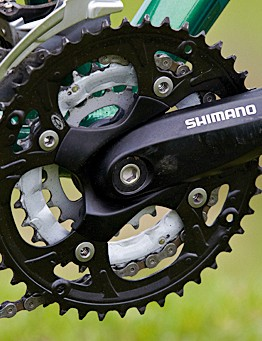 A very basic crankset is the only obvious componentry downgrade