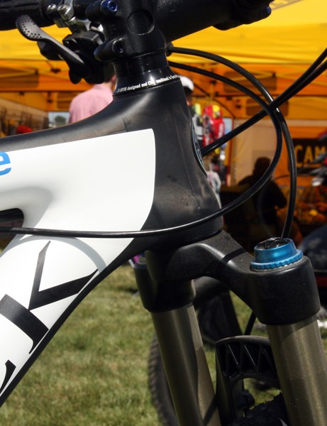 The new Storck Rebel Nine uses a tapered head tube.
