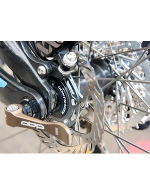 Bontrager's prototype disc hubs had Center Lock rotor interfaces