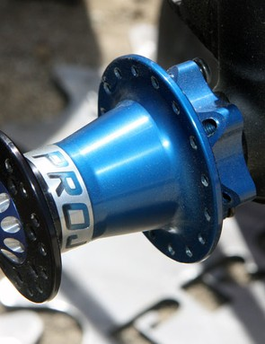 Project 321 first made a name for itself thanks to Cannondale Lefty-compatible components like these front hubs