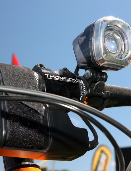 Topeak's latest WhiteLite HP Mega 10W has a claimed output of 900 lumens
