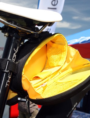 Topeak's SideKick STW saddle pack features flip-down sides for easier access to tools and gear