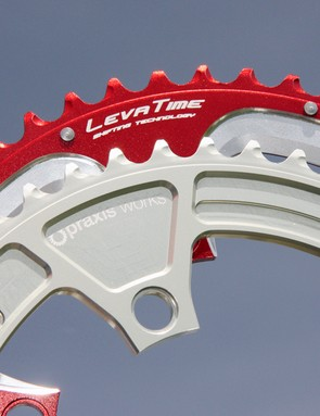 Praxis's forged chainrings use impressively complex shaping on the teeth