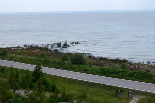 A norther Michigan bike path