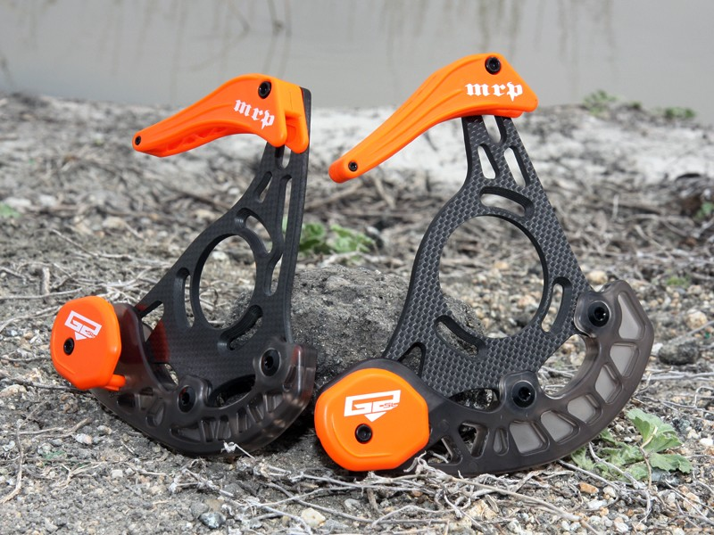 MRP is currently testing a pair of new carbon fiber guides.  Claimed weight on the G2 SL (for 36-40T rings) is just 165g while the Mini G2 SL (for 36-40T rings) is even lighter still at only 140g