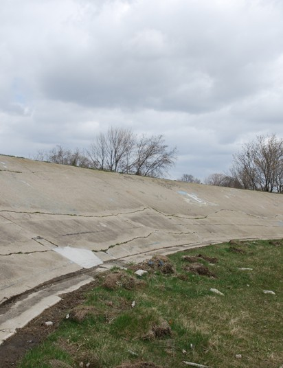 While not a pristine surface, the Dorais Park Velodrome is back in action