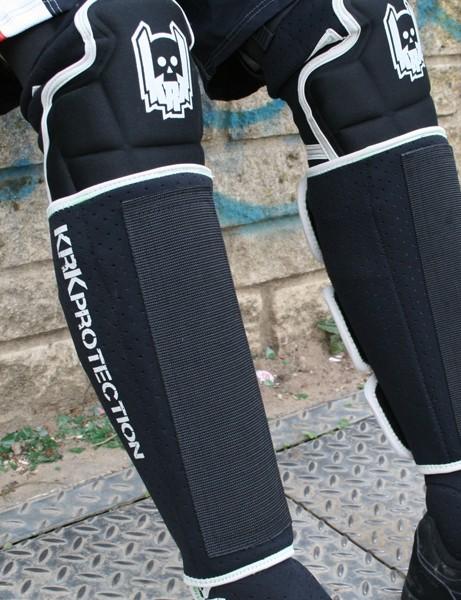 KRK Marou knee pads and Asfalt shin pads