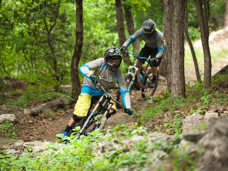 Cube test rider Andre Wagenknecht on the new Two15 downhill bike
