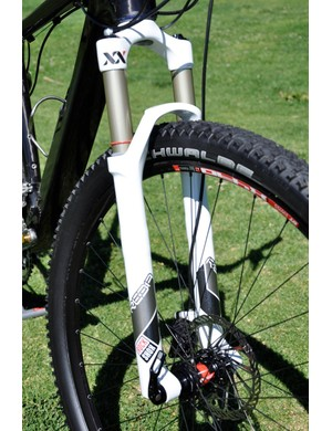 bike was fitted with a RockShox Reba XX 29 when we caught up with him at the team training camp but he's likely on a new SID 29 by now