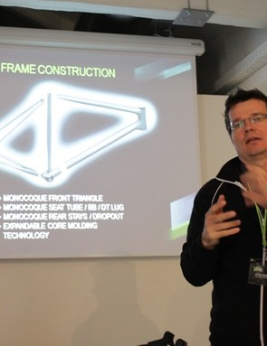 Peter Denk explains the engineering of the new frame