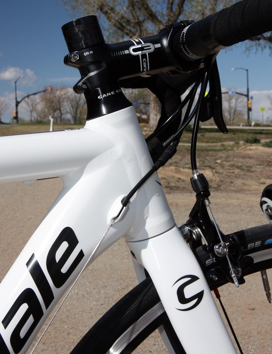 Cannondale includes a tapered 1 1/8-to-1 1/4in head tube on the new CAAD10 frame