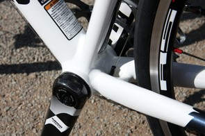 Even though it's just US$1,799, the Cannondale CAAD10 4 Rival still uses a BB30 bottom bracket shell