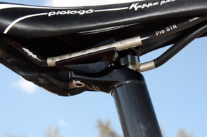 The low-profile two-bolt seatpost head is secure and easy to adjust, especially if you're running a cutout saddle