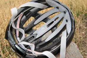 Deep channels run nearly front to rear on the Louis Garneau Quartz helmet, helping air travel across the entire top of your head