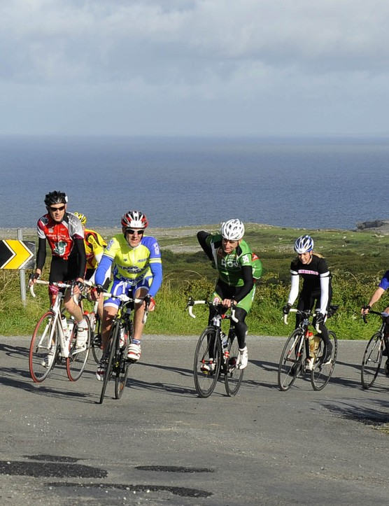 Sean Kelly (fourth right) won 193 races during his 17 year professional career