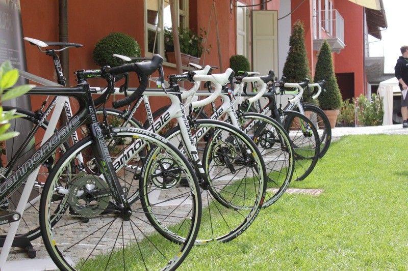 Cannondale showed the whole EVO fleet at their Italian launch