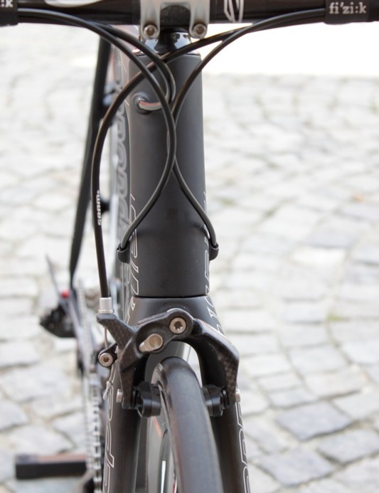 Another look at the naked EVO Ultimate's head tube