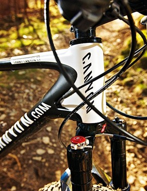 The tapered head tube adds to the Canyon's impressive attributes