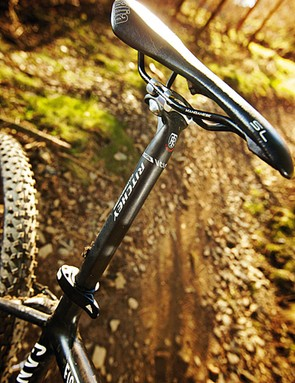 The special Ritchey VCLS carbon seatpost offers some extra comfort