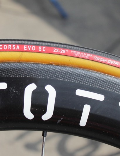 The tire uses a CoreSpun 320tpi casing
