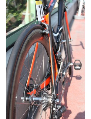 The back end of the aero bike