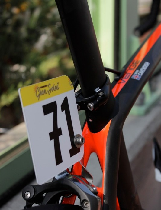 Brake boss mounted number hangers are the most prevalent attachment in the peloton