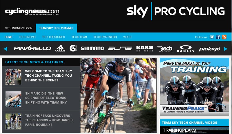 Team Sky tech channel