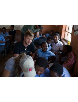 As an ambassador for True Collection, Greg does charity work with underprivileged kids