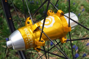 Despite the bulbous appearance, the rear hub is actually quite light