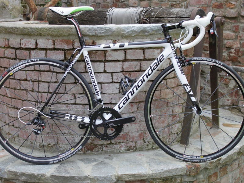 The SuperSix Evo weighs just 13.46lbs (without pedals) in the 54cm size as built for the launch