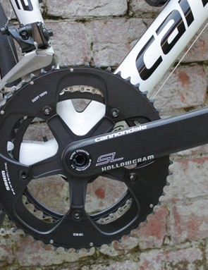 Cannondale's Hollowgram 2 crankset weighs a claimed 580g with rings, bottom bracket and bearings