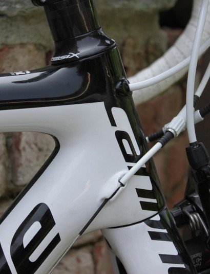Despite the smaller 1 1/8in to 1 3/8in head tube taper the front of the bike is plenty stiff