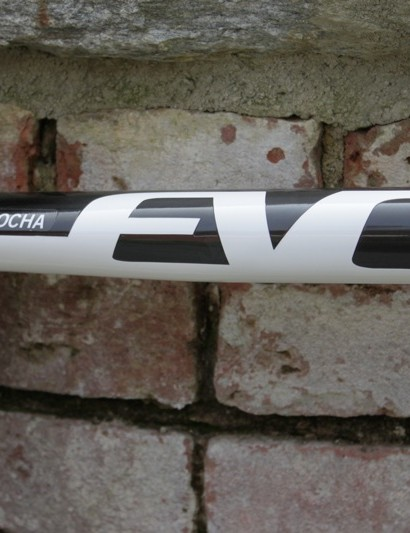 The Evo top tube flattens to meet the seat tube and seat stays