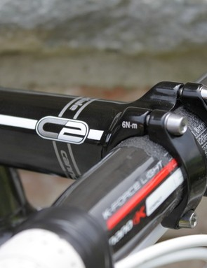 We rode Cannondale's C2 stem in a 110mm length, and despite it being a relatively flexible stem the front end remained rock solid